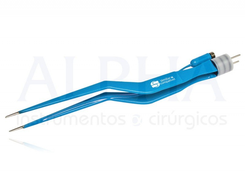 Pinça bipolar baioneta para irrigação 20cm