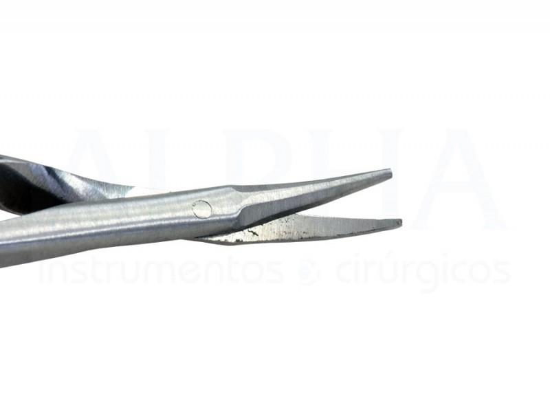 Tesoura Vannas 9cm curva
