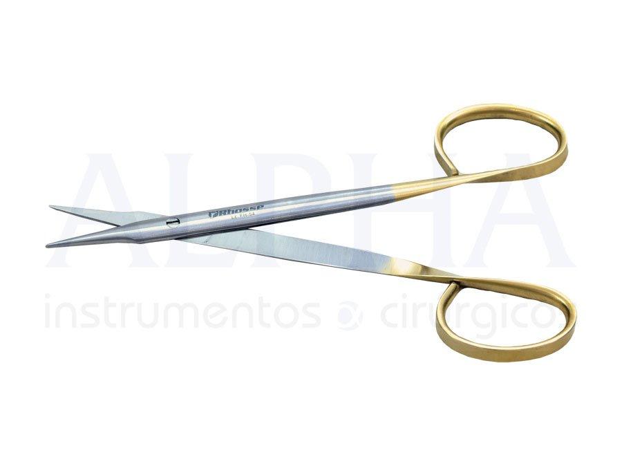 Tesoura Stevens reta ponta fina 12cm ribbon
