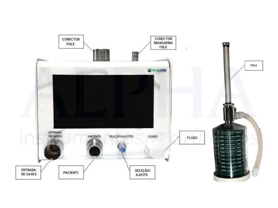 Aparelho de anestesia inalatória com ventilação móvel - DL750