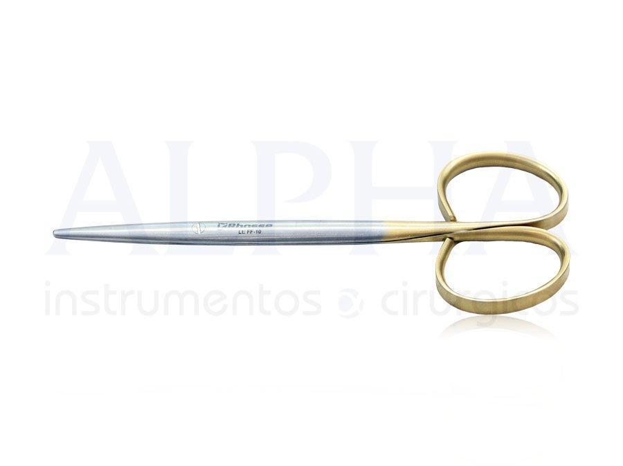 Tesoura Íris reta ponta romba 12cm ribbon