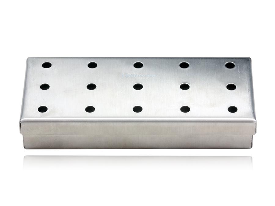 Estojo de inox 12x05x02cm perfurado